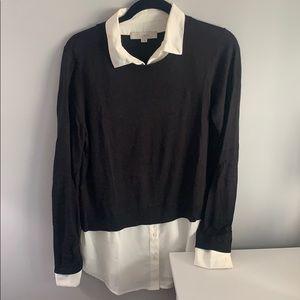 Loft Black Sweater Blouse